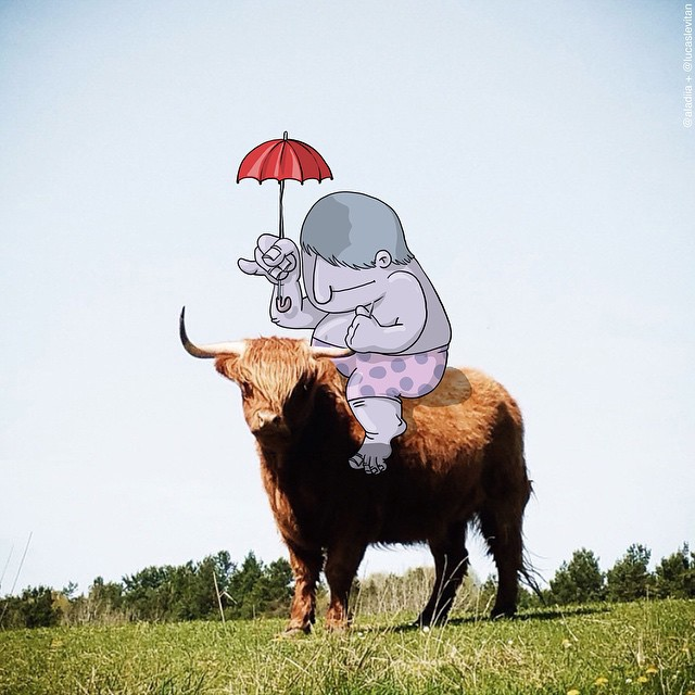 cow creative art ideas by lucas levitan