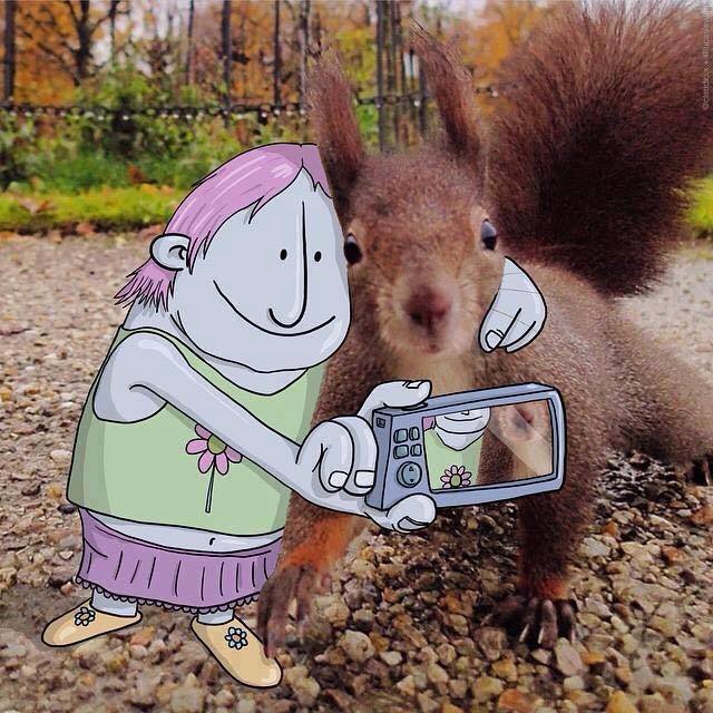 squirrel creative art ideas by lucas levitan