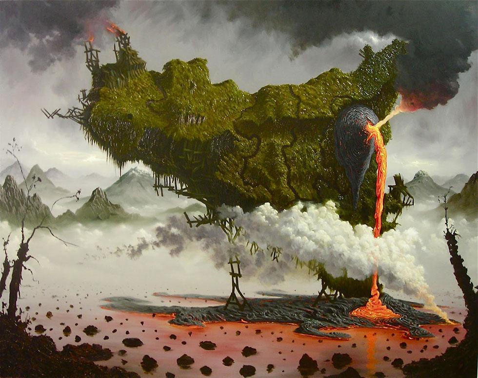 surreal painting by fulvio di piazza