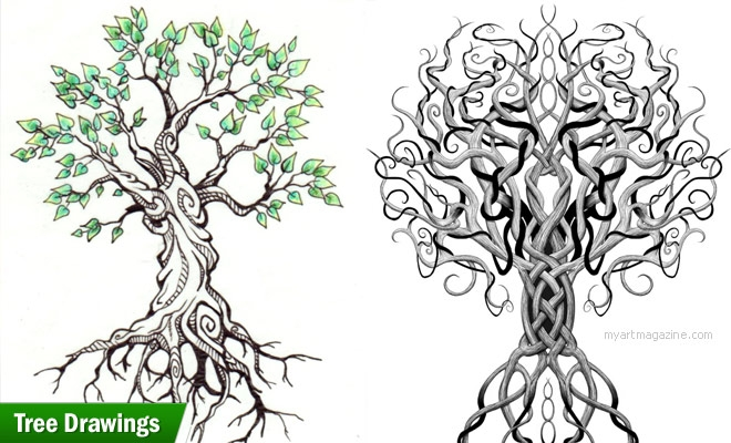 Design Inspiration: 25 Beautiful Tree Drawing Examples