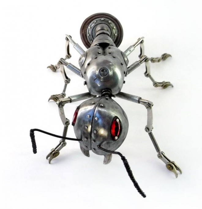 big ant scrap sculptures igor