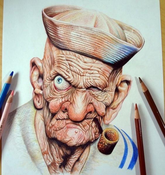 color pencil drawing by memo espino