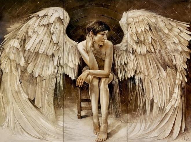 angel oil painting lidia