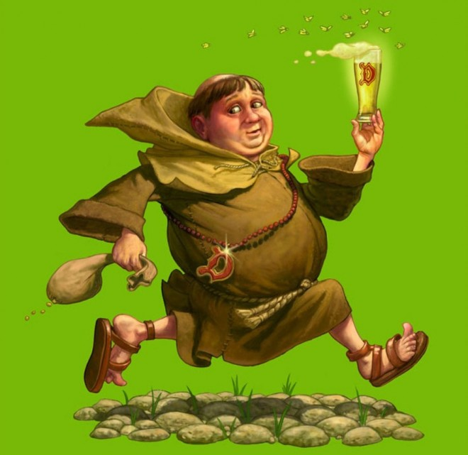 beer monk digital art chris beatrice