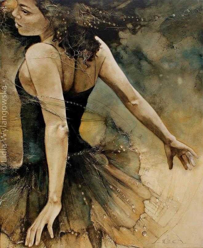 dancer oil painting lidia