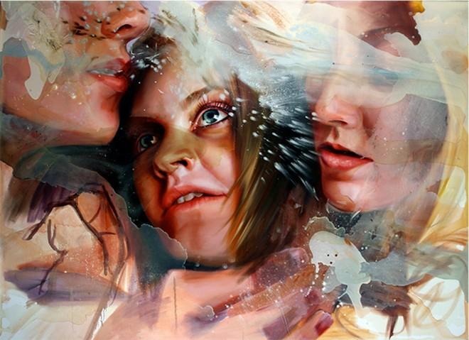 girl oil painting angela