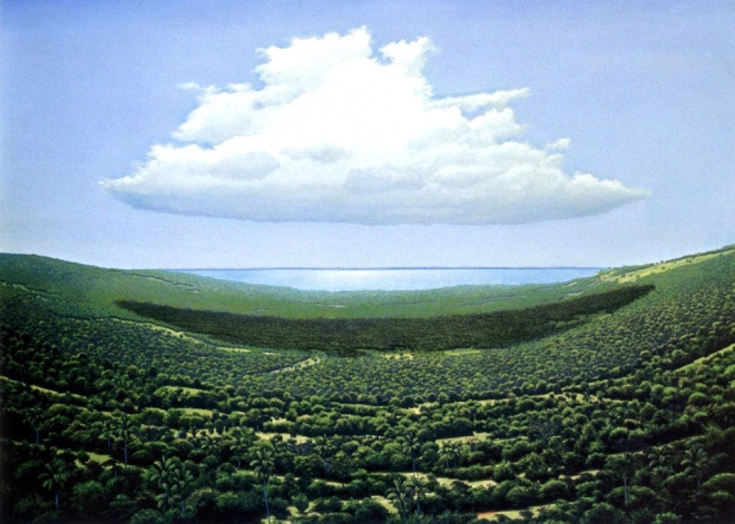 landscape oil painting tomás sánchez