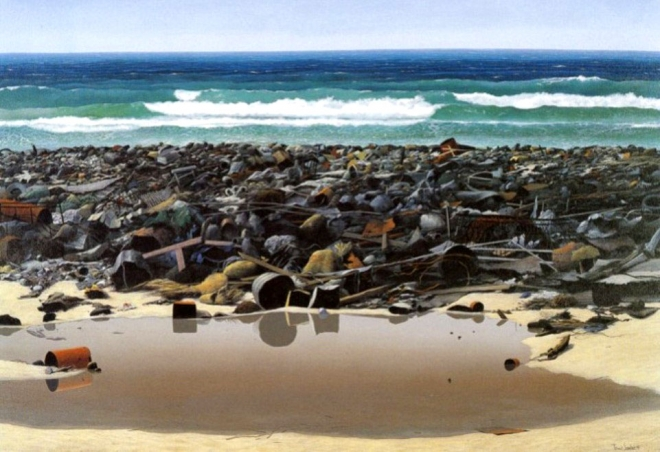 polluted beach oil painting tomás sánchez