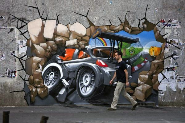 3d street wall art by lin ching che