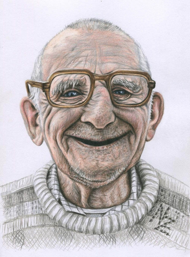 oldman color pencil drawing nicole oldman color pencil drawing nicole - Color Drawings