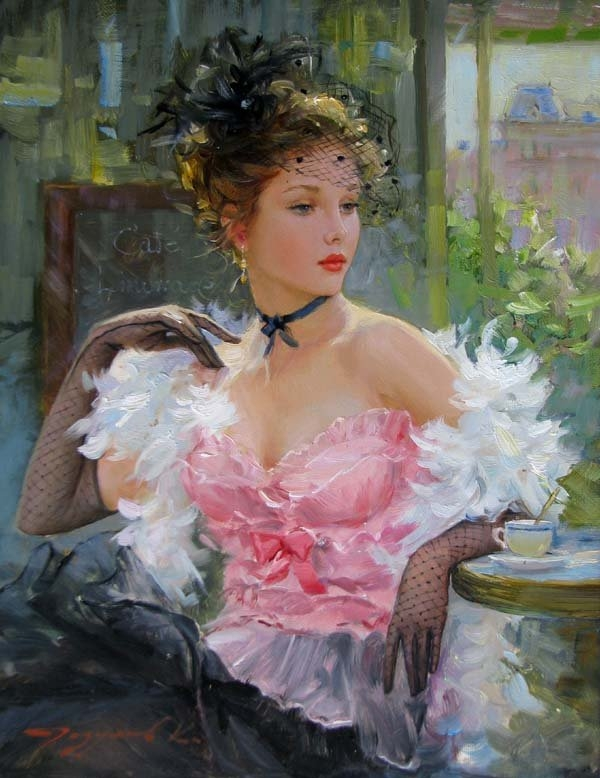 beauty woman paintings konstantin