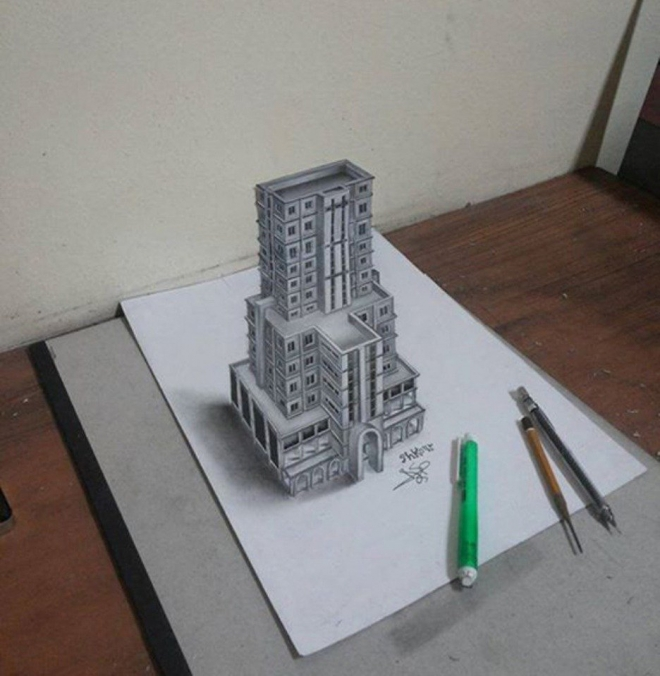13 Awesome 3d Pencil Drawings By Mohammed Shkour