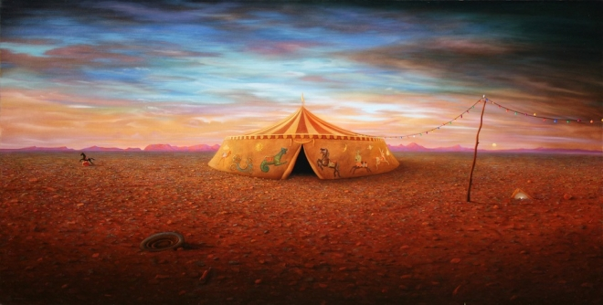 circus tent painting richard baxter