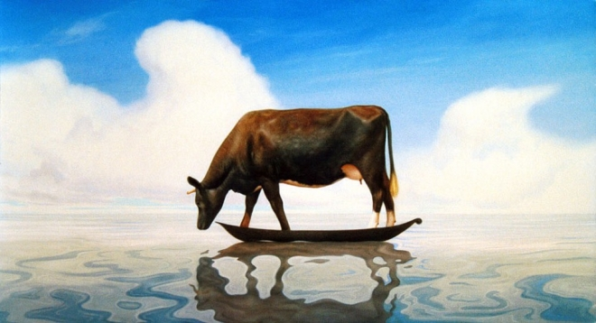 cow painting richard baxter