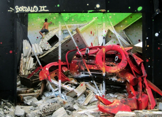 crab street art artur bordalo