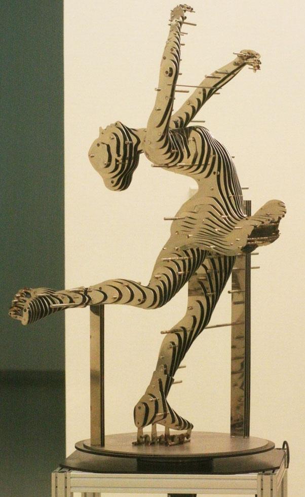dancing girl metal sculptures chan