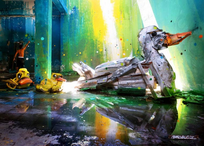 duck street art artur bordalo