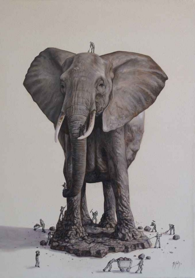 elephant illustration ricardo solis
