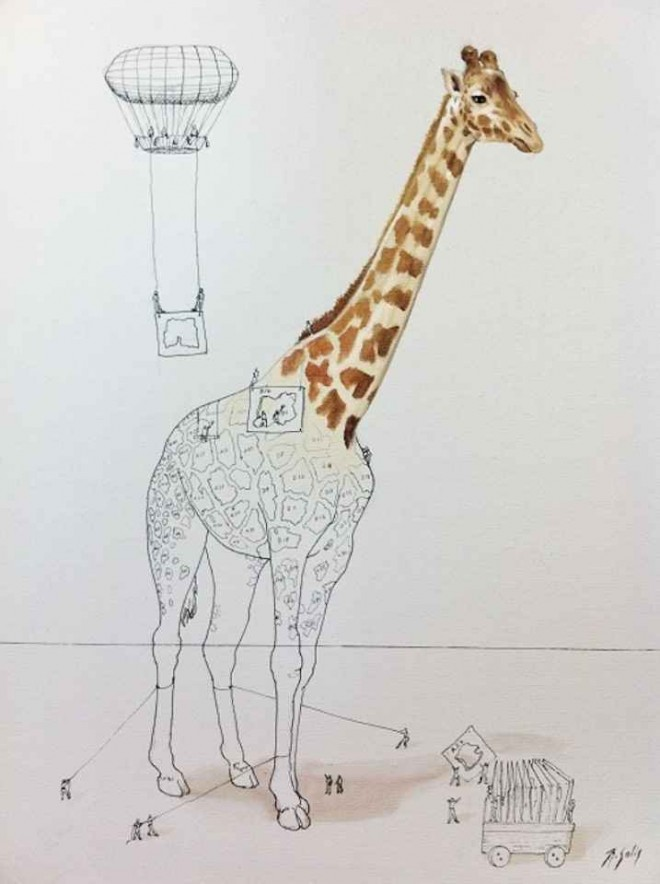 giraffe illustration ricardo solis