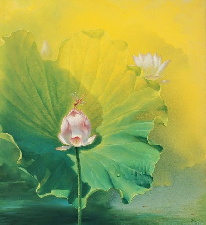 insect lotus bud painting jiang