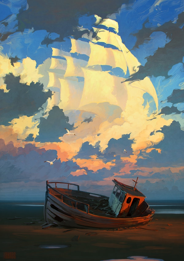lost forgotten digital painting rhads