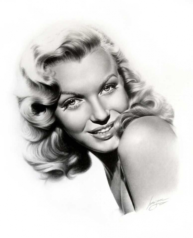 marilyn monroe pencil drawing linda huber