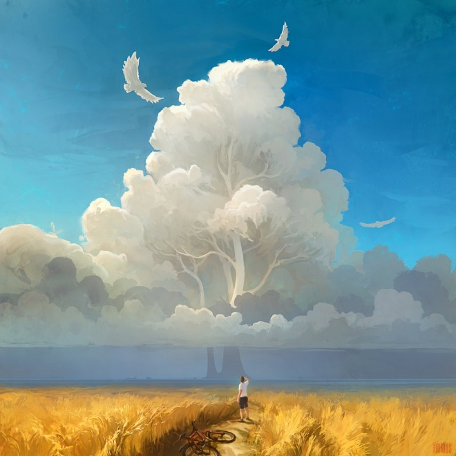 nature salvation digital painting rhads