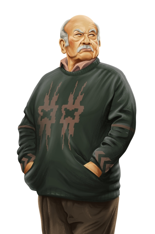 old man digital art