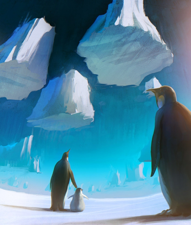 penguin digital painting rhads