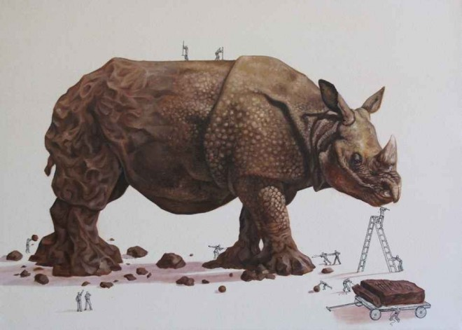 rhino illustration ricardo solis