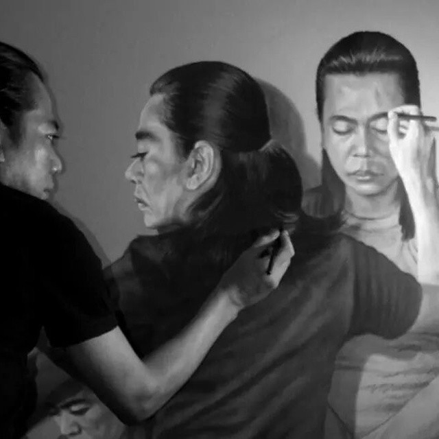 self double side pencil drawing veri