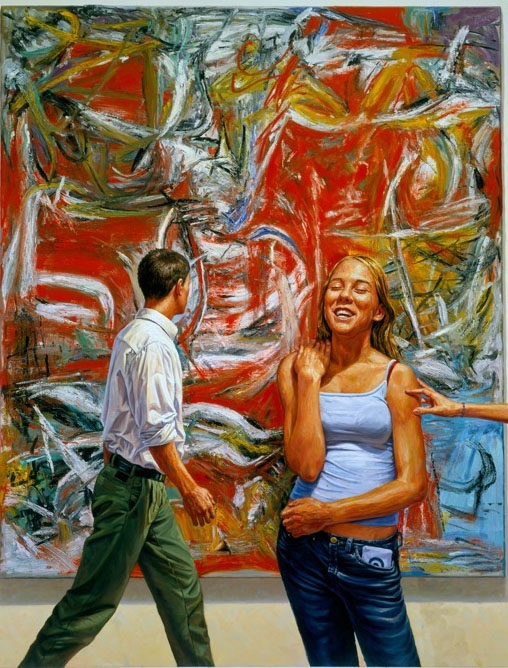 woman laugh oil painting francine