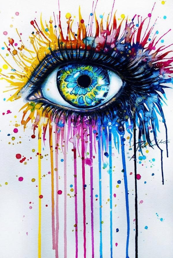 colorish eye watercolor painting svenja