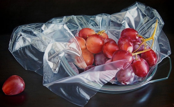 grapes oil painting ruddy