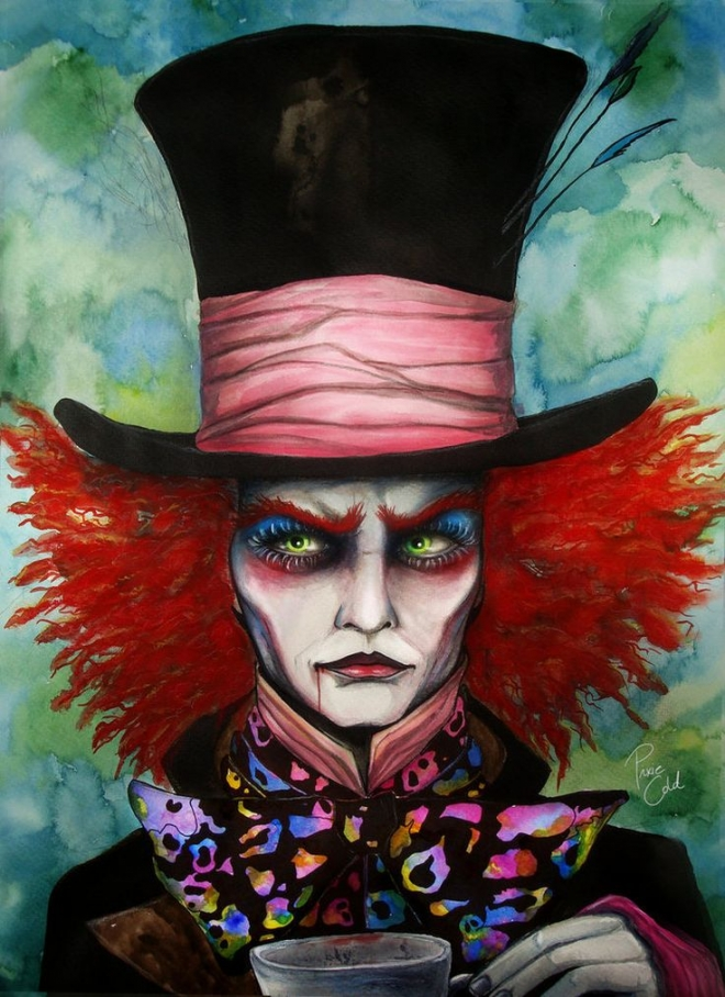magician watercolor painting svenja