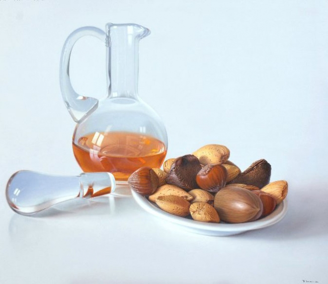 tea oil painting ruddy