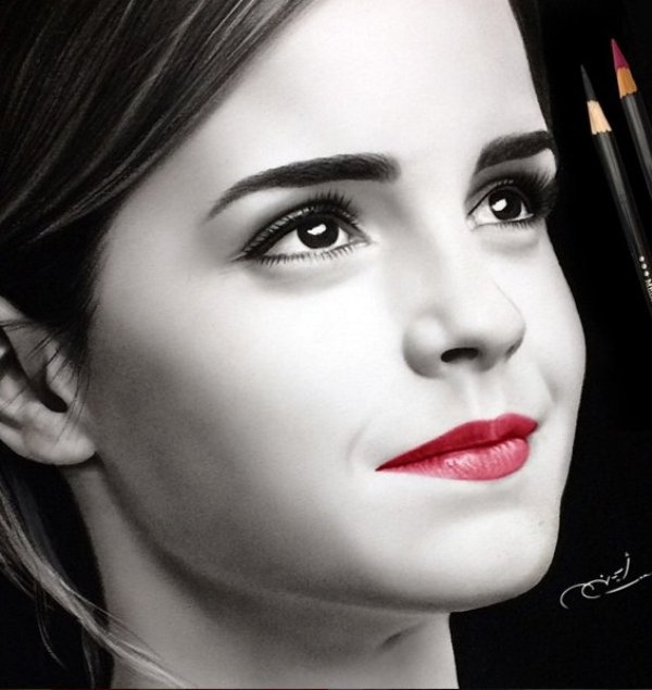 emma watson pencil drawing by ayman