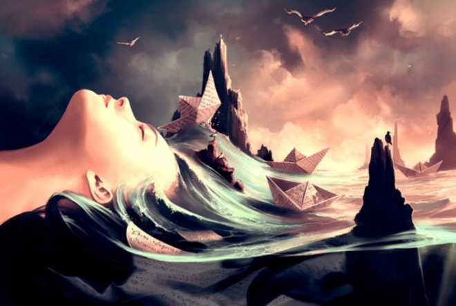 surreal digital art by cyril