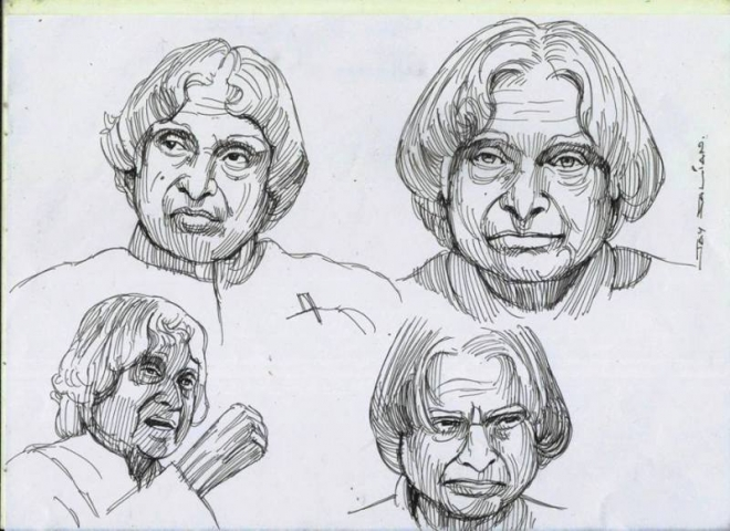 kalam color pencil drawings by jay