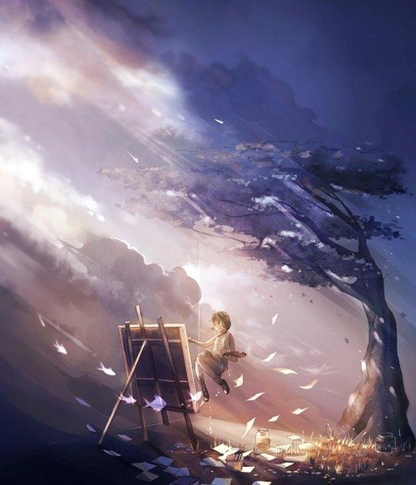 scenery digital art by niken