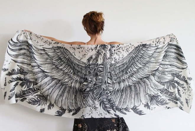 black wings scarf art 2