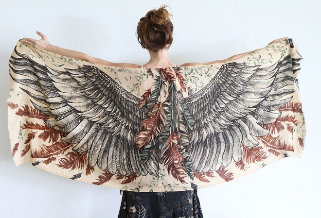 black wings scarf art 3