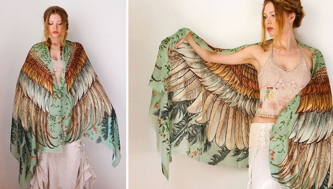 green wings scarf art