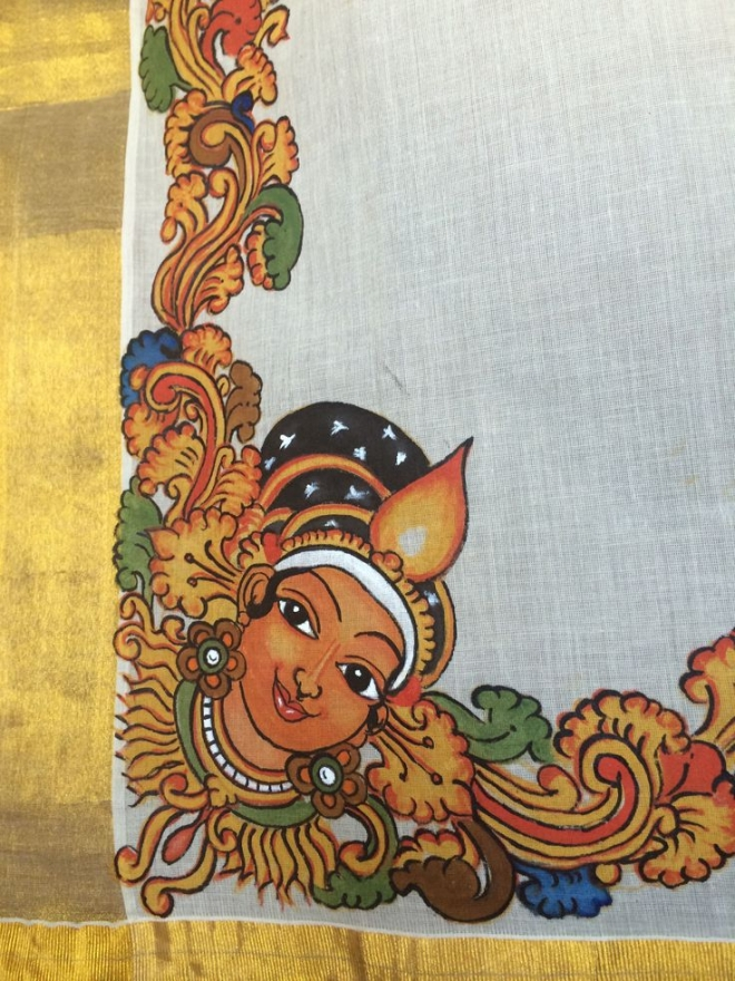 keral saree mural painting