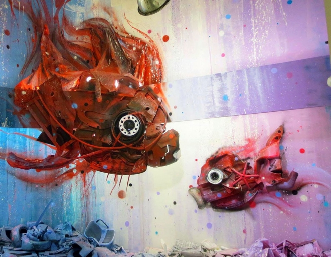 fish street art by bordalo