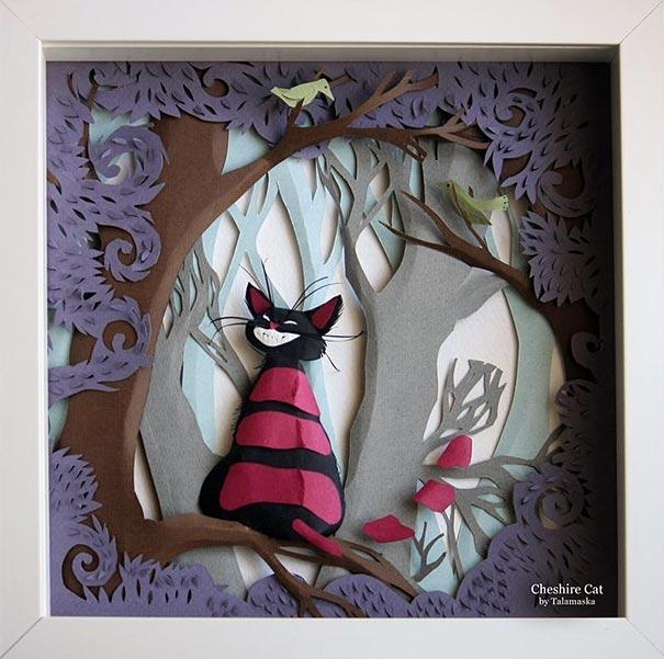 paper art by marina adamova