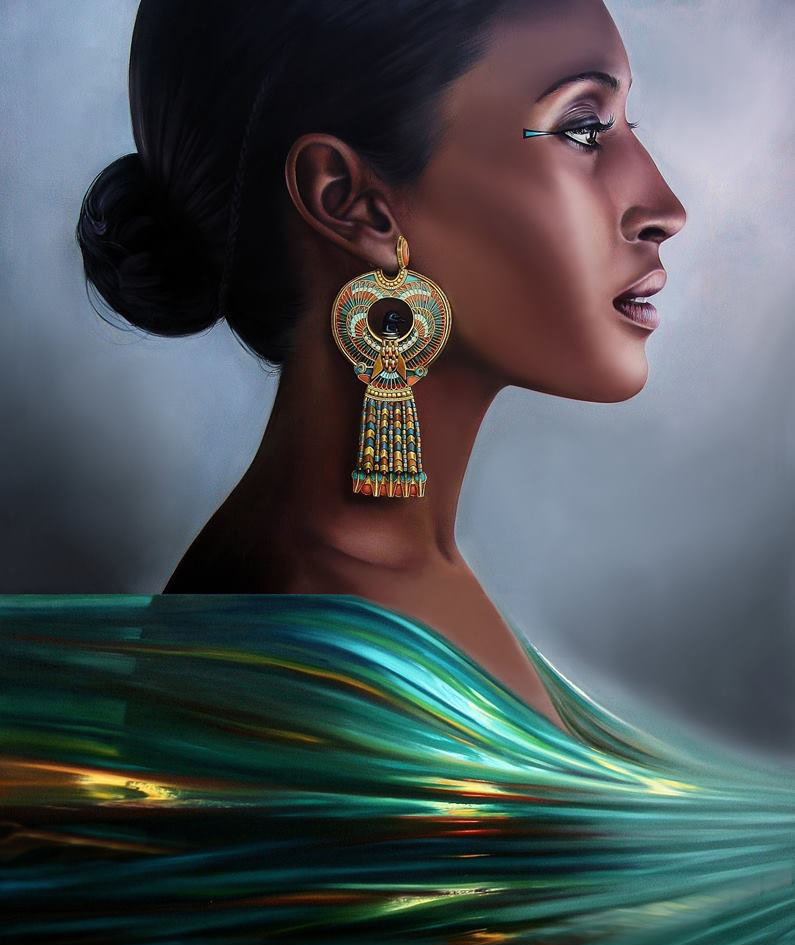 black woman painting by christiane vleugels