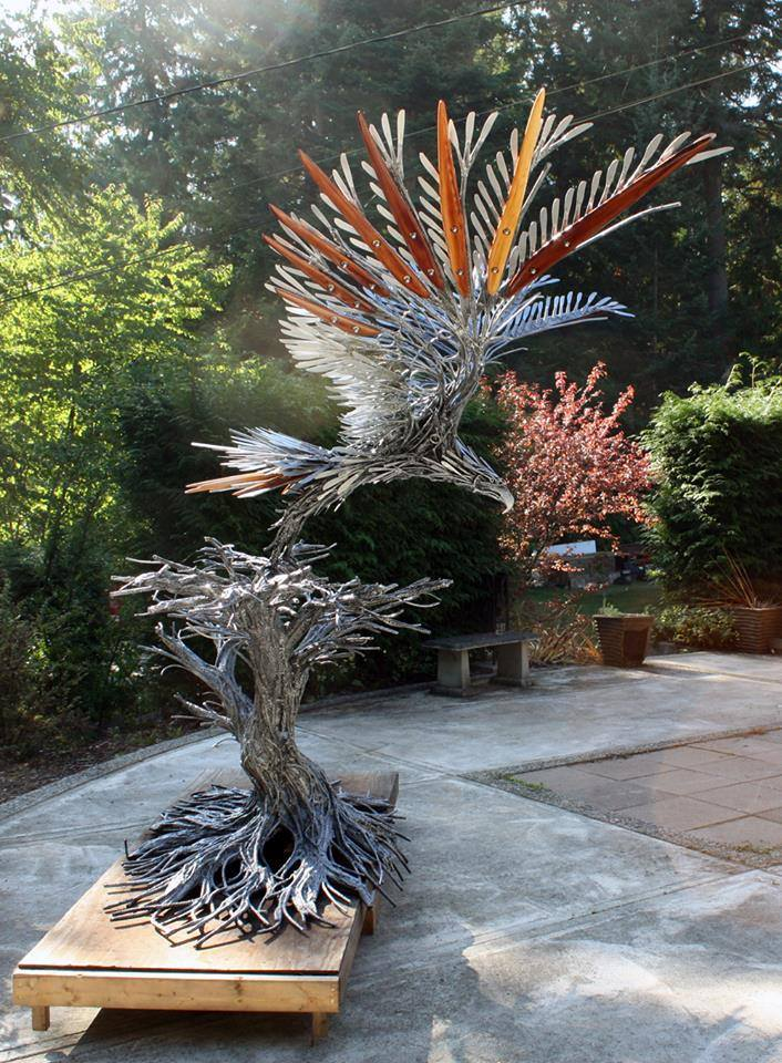 eagle metal sculptures