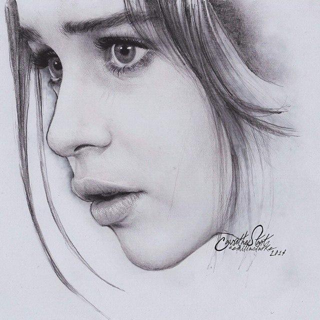 girl drawing by anindi
