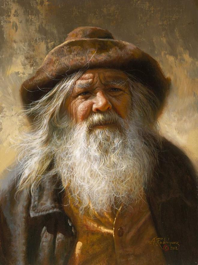 old man painting by alfredo image preview image
